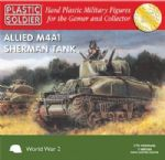 62008 Plastic Soldier Company 1/72 Scale Allied Sherman M4A1 75mm Tank (3)